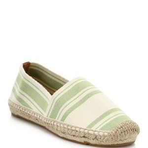 Tory Burch green espadrilles
